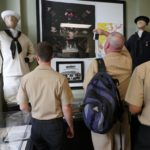 Commander and crew of USS Asheville visit City Hall