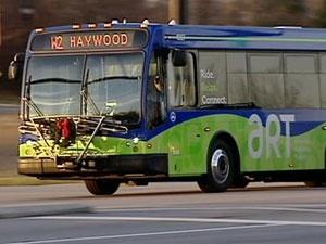 asheville transit bus in motion