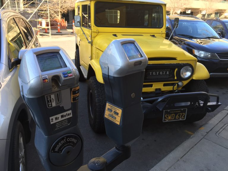 Photo of car and parking meter