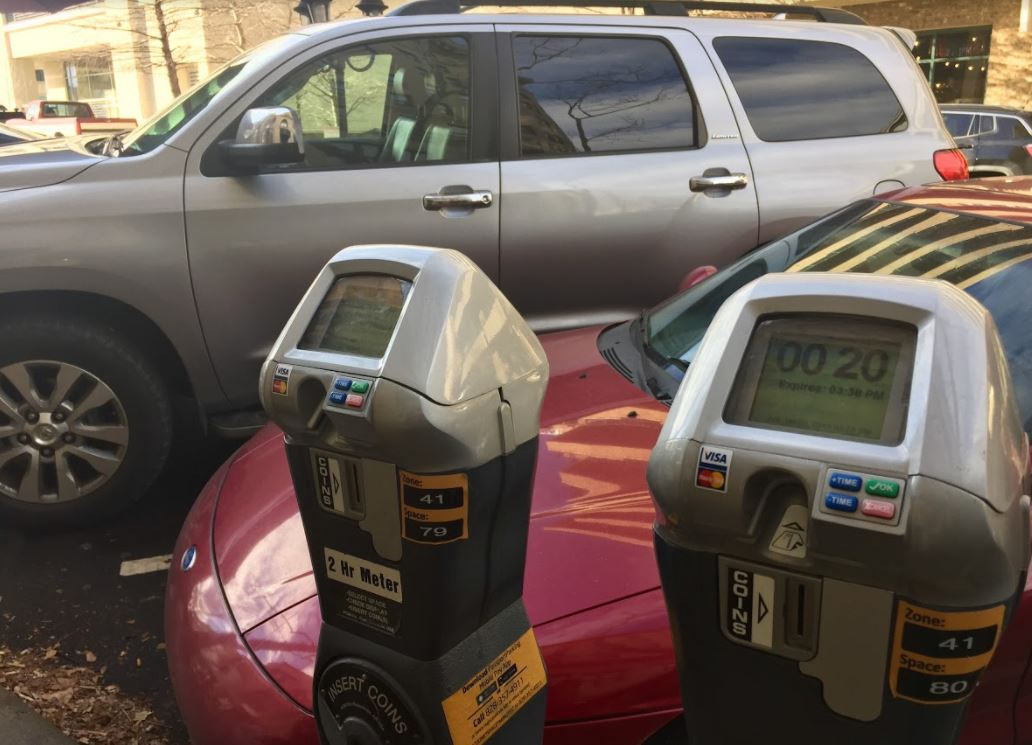 Asheville parking meters
