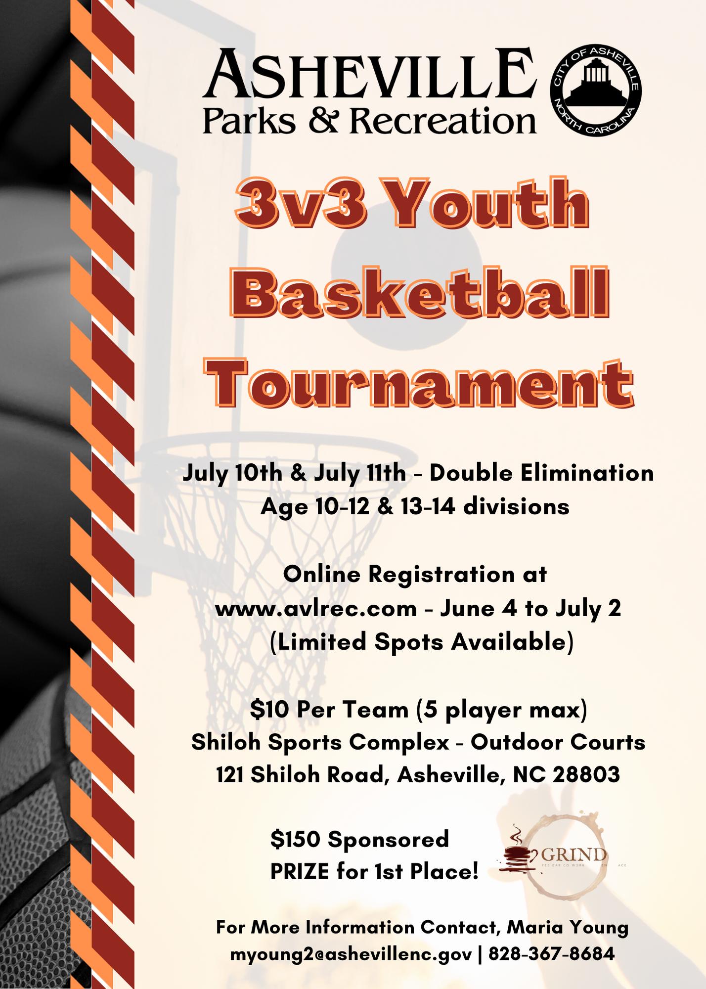 3v3 Basketball Flyer