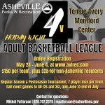 Friday night Adult Basketball League flyer