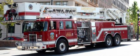 A city of Asheville fire truck