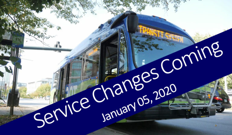 service changes coming January 05, 2020
