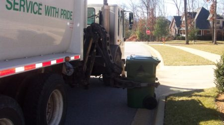 asheville trash pickup in route