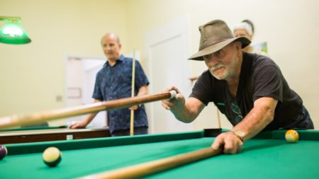 parks and recreation event playing pool