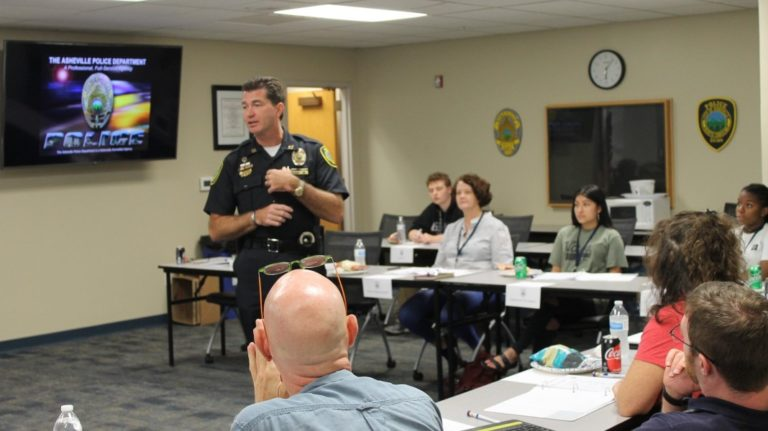citizens police academy in session