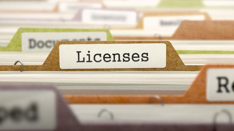 image of license folder