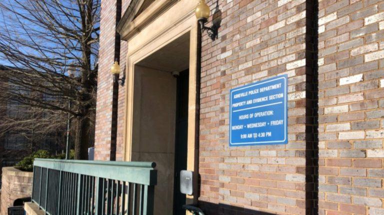 asheville police department entry door