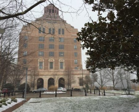 City Hall snow