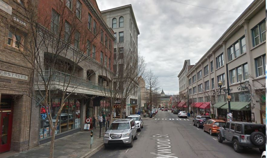 Haywood Street in downtown Asheville