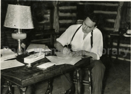 Thomas Wolfe at cabin
