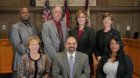 asheville city council members group photo