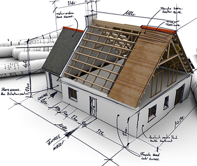 single family home plans illustration
