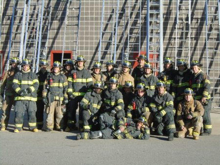 asheville fire fighters group photo