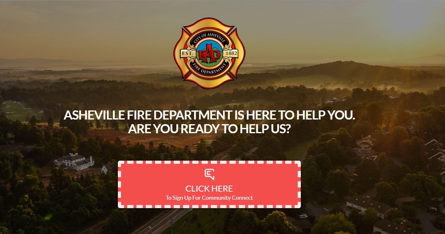 Community Connect webpage screenshot