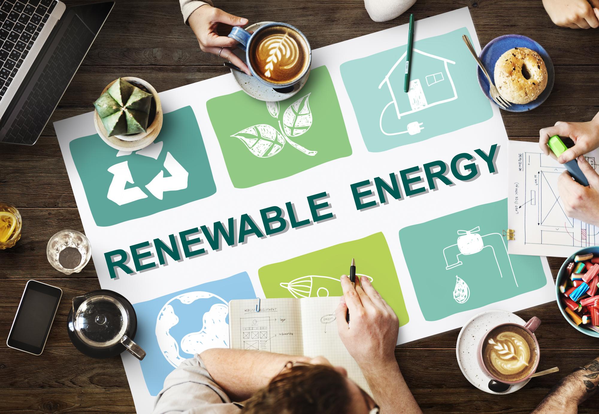 Renewable energy planning illustration