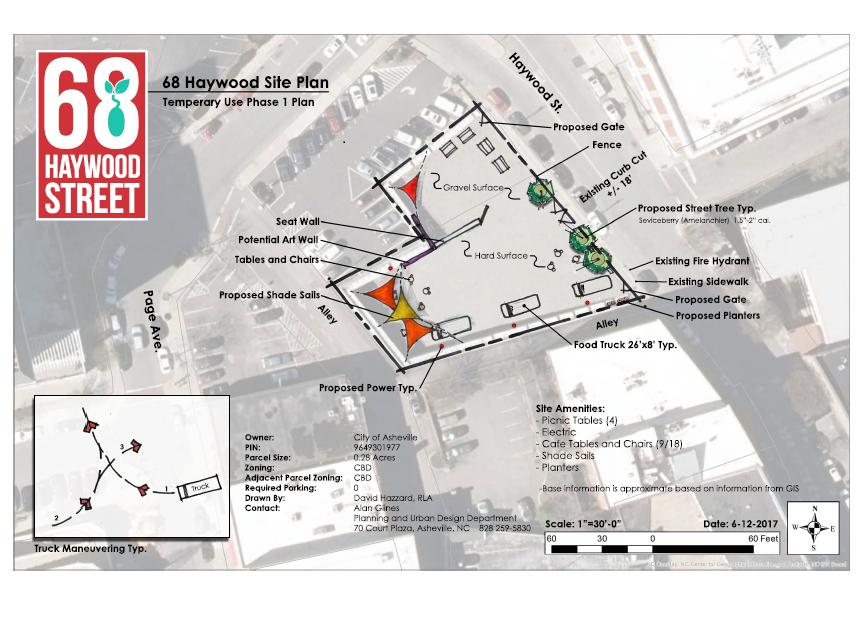 68 Haywood site map
