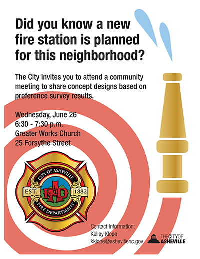 next fire station community meeting is June 26