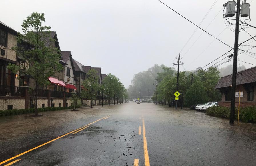 Flooding in Biltmore Village.