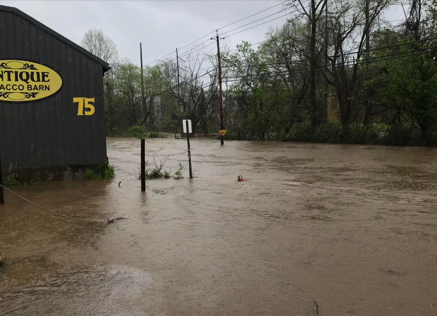 Swannanoa River Road flooded
