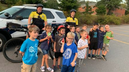 asheville police in the community with students