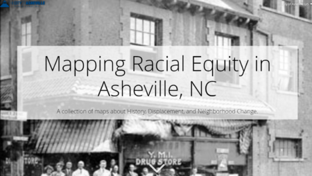 Cover to presentation titled Mapping Racial Equity in Asheville, NC