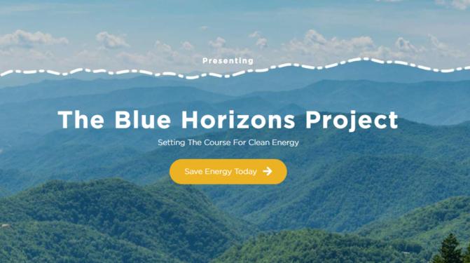 Blue Horizons project webpage screenshot