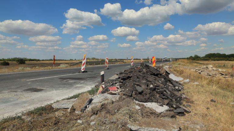 roadside construction debris