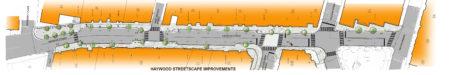 Haywood Streetscape graphic map
