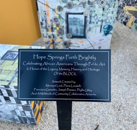 hope springs forth brightly celebrating african americans through public art plaque