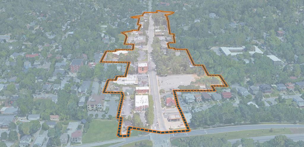 charlotte street google earth image outline