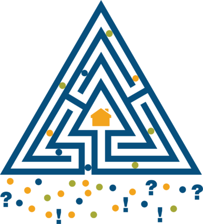 triangle with housing graphic