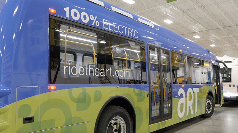 proterra bus in factory