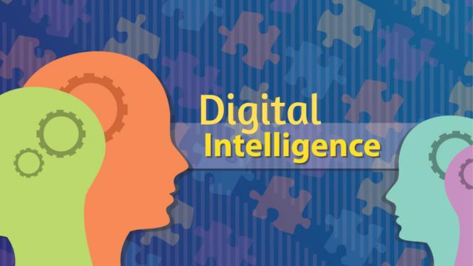 Digital intelligence illustration