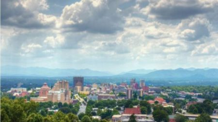 city of asheville skyline