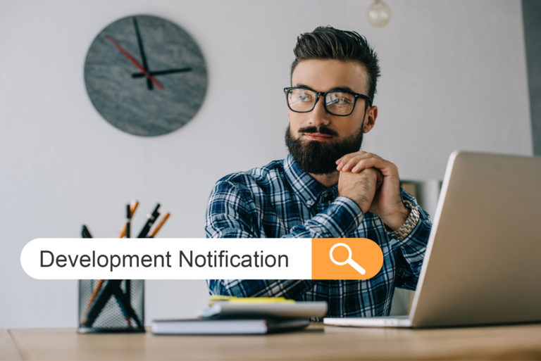 development notification photo illustration