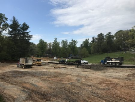 Jake Rusher park under construction April 2020