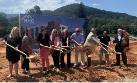 mountain housing opportunities groundbreaking for East Haven Apartments