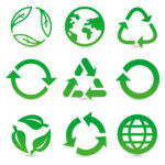 vector graphic of recycling icons