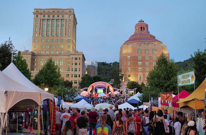 Photo of festival in Pack Square Park
