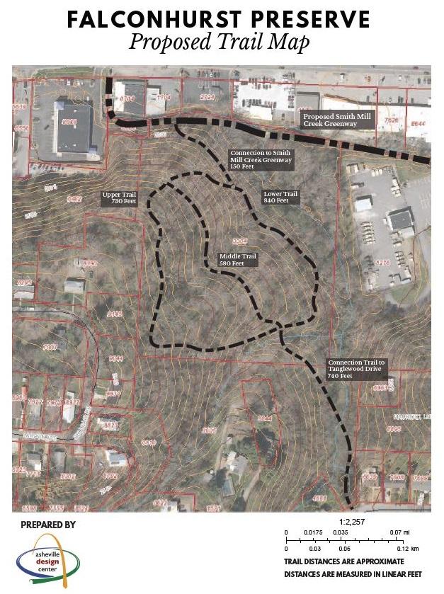 Falconhurst trail map