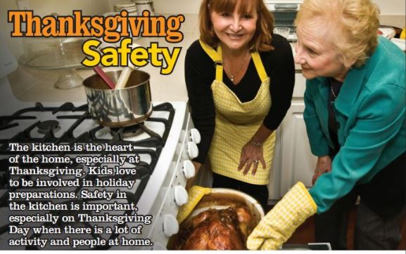 Thanksgiving photo illustration of 2 women getting a cooked turkey out of the oven.