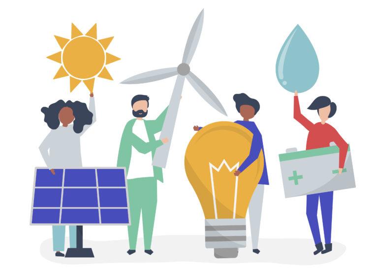renewable energy illustraton