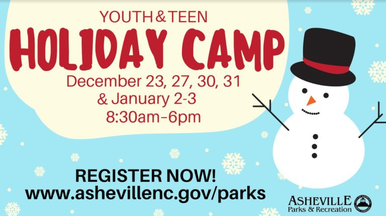holiday teen camp poster