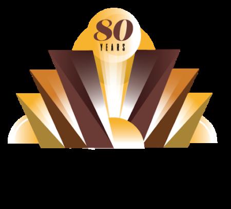 Wolfe Auditorium logo noting its 80th anniversary