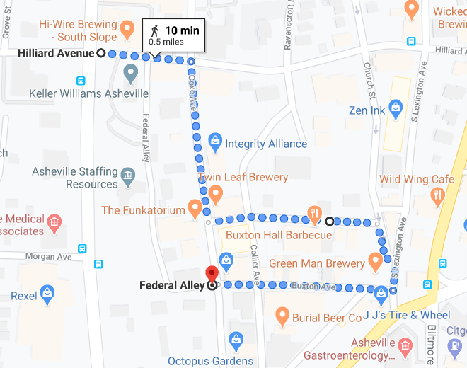map of parade route