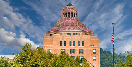 top of Asheville City Hall building