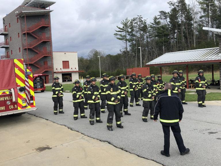 Asheville fire recruits