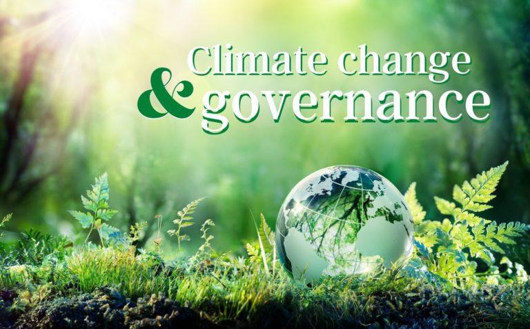 Climate change and governance illustration